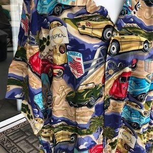 island collection Shirts - Island Collection men's sz medium Hawaiian shirt
